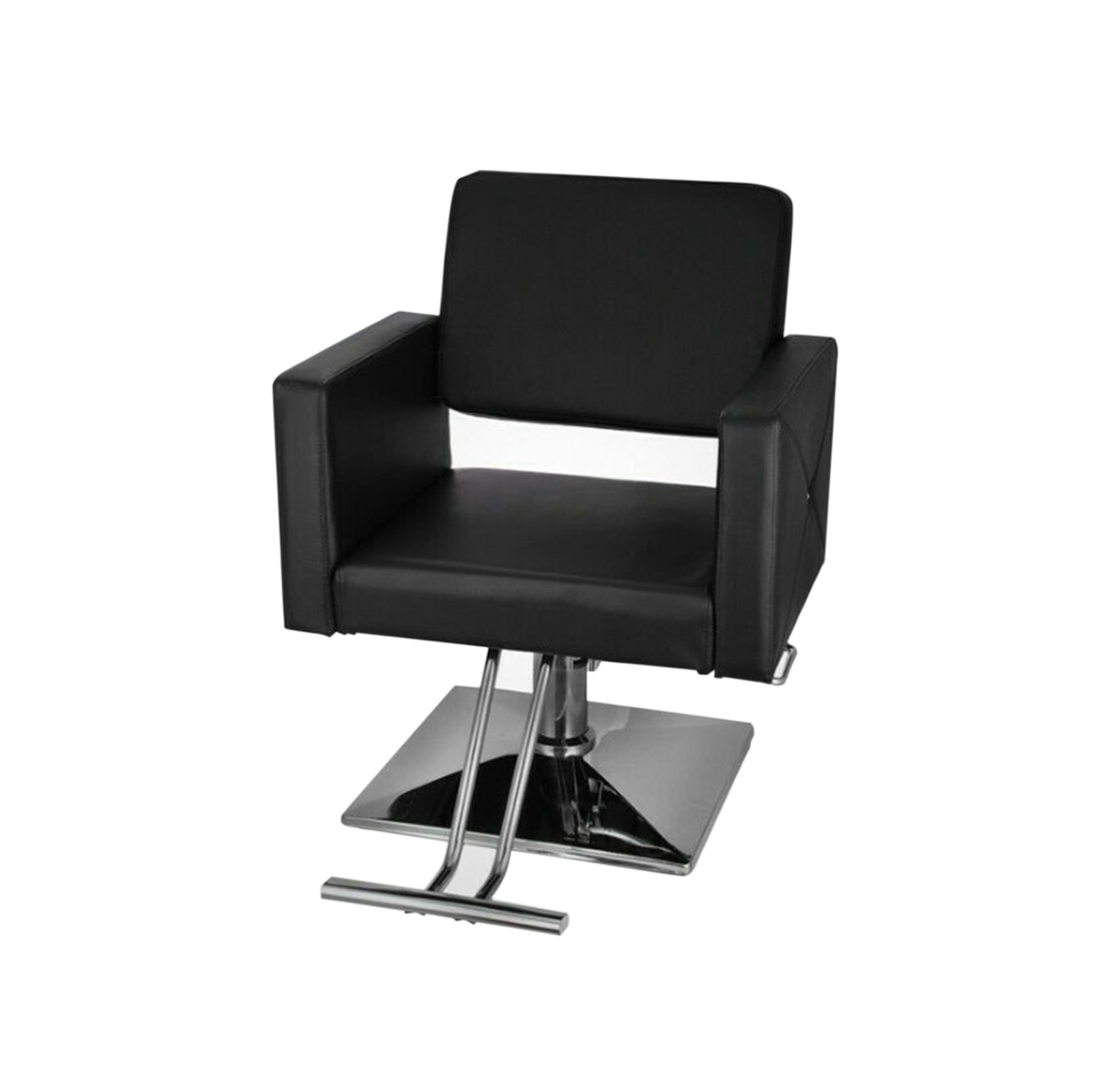 Salon Hydraulic Styling Chair In Black Upholstery | Gogobli